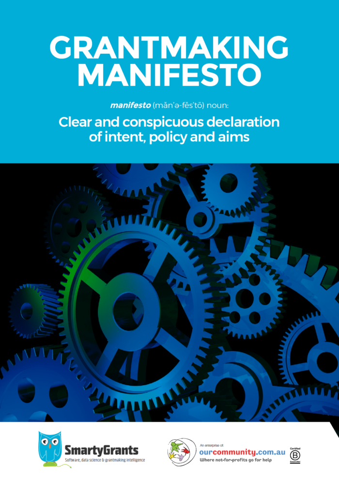 Grantmaking Manifesto Cover